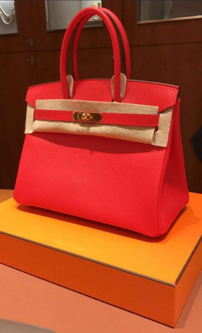 0385d3e882c Hermes Birkin 30 Veau Toumate Rouge GHW 2017, Luxury, Bags & Wallets ...