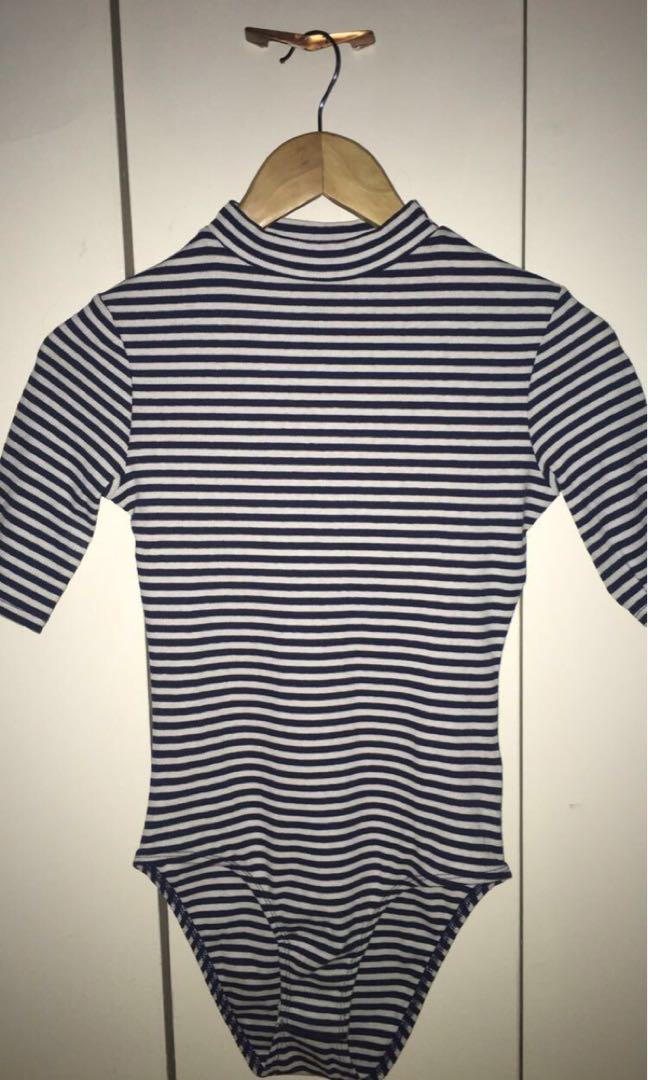 H&M striped bodysuit