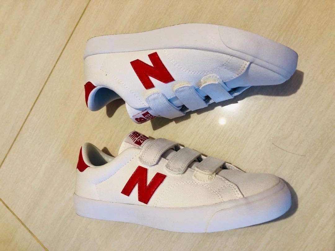 Korea New Balance NB red white sneakers