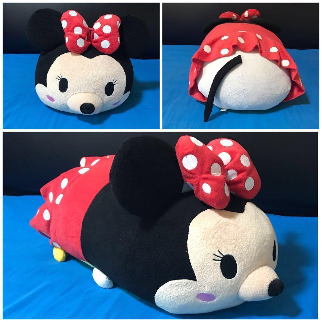 LIKE NEW Giant Huge Big Disney Minnie Mouse Tsum Tsum Tsumtsum Plush Soft Toy Cute Adorable Sweet
