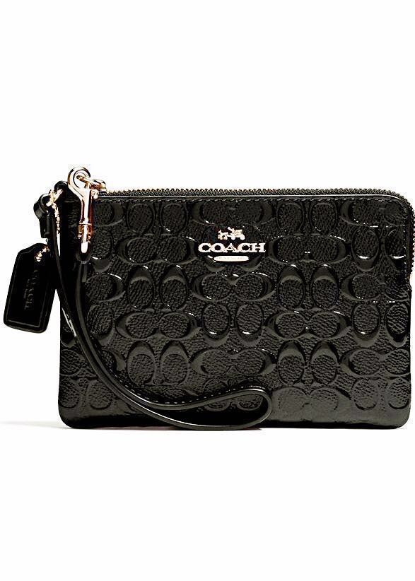 fa3af7f85e Limited Edition Coach Black Gold Leather Wristlet (Wallet Purse ...