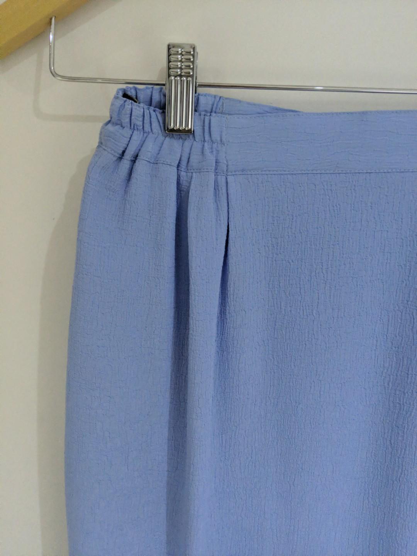 Liz Davenport blue skirt