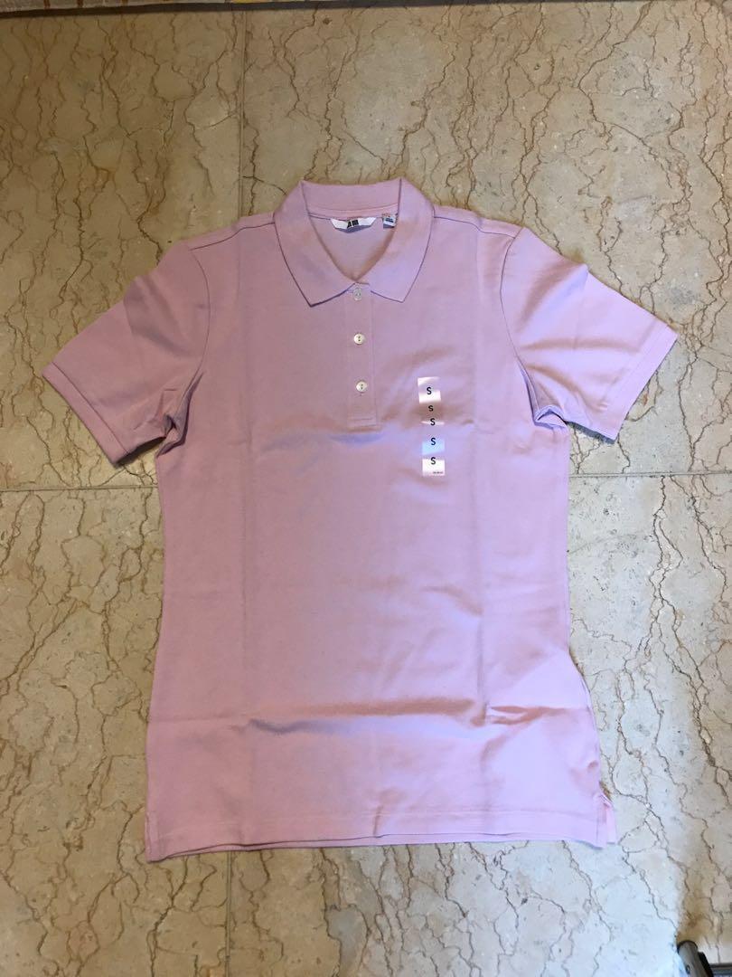 NEW uniqlo women polo shirt kaos polo wanita size S