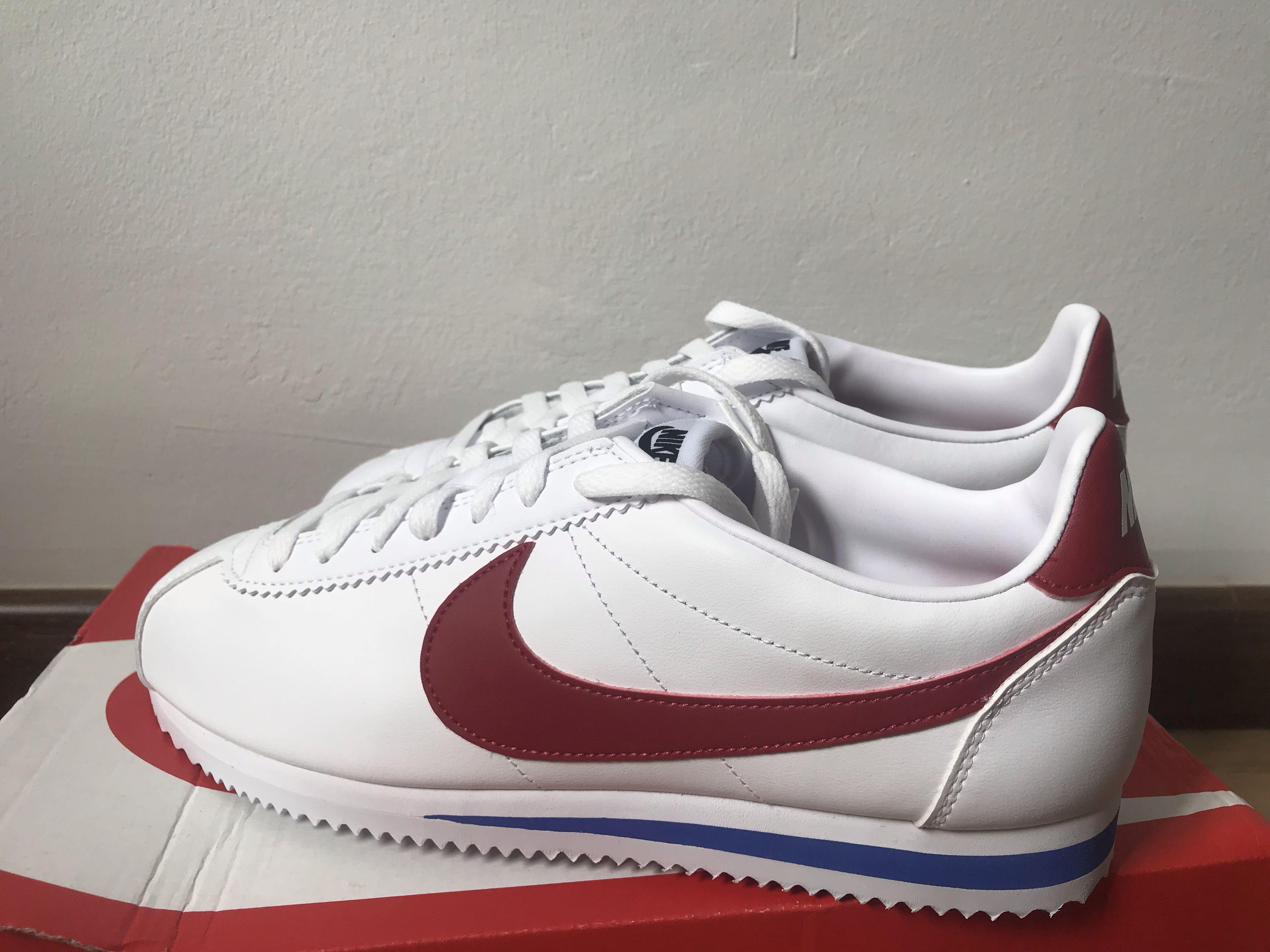 nike cortez trainers in retro leather
