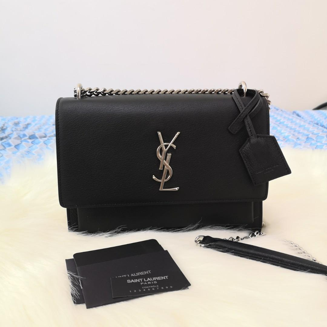 29a52e888 ON HAND: Authentic Yves Saint Laurent Medium Sunset Crossbody Bag Grained  Leather Crossbody Chain Bag on Carousell