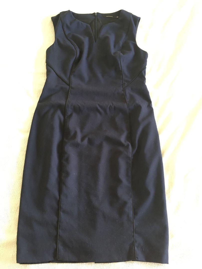 Portmans Size 12 Navy Suit Dress