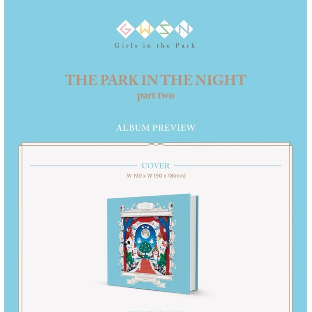 [PREORDER] 공원소녀 (GWSN) - 밤의 공원 (THE PARK IN THE NIGHT) PART TWO