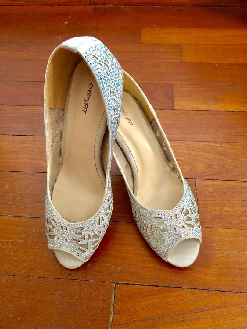 dd5577f89e93 prettyFIT glittery wedding heels, Women's Fashion, Shoes, Heels on ...