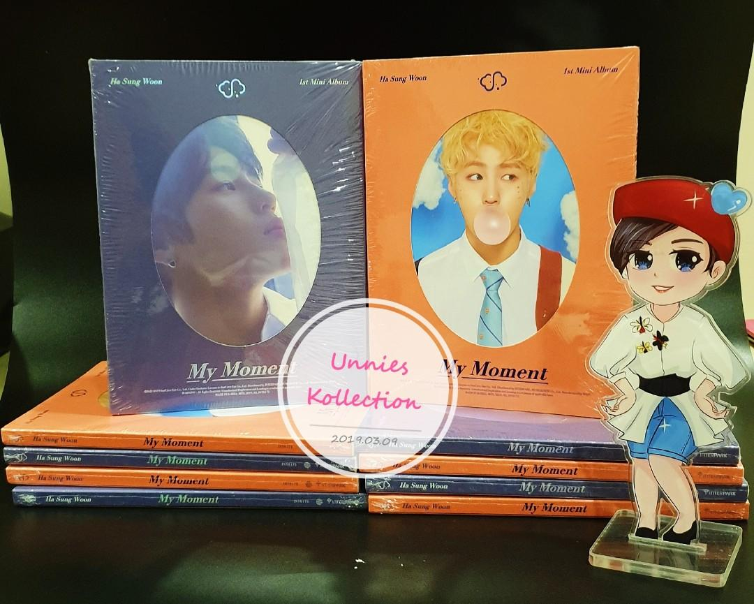 💥💥READY STOCK💥💥  Ha Sung Woon - Mini Album Vol.1 [My Moment]