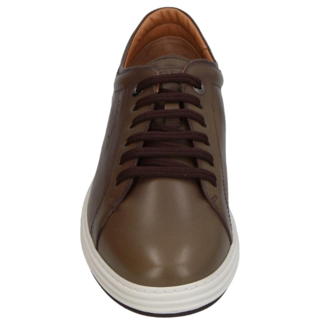 0d4b5a696 Salvatore Ferragamo Newport Vitello Khaki Green Sneakers (Size: 9 US ...