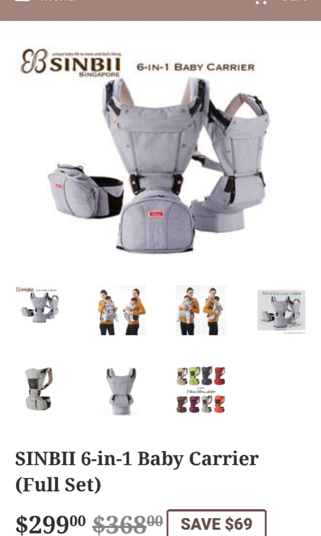 b3013c6aabe SINBII II 6in 1 baby carrier - Korea