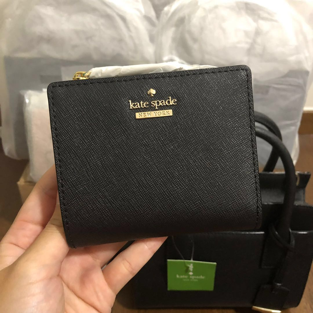 54a0b3158 [SOLD] SUPER RARE INSTOCK Kate Spade Cameron Street Adalyn Small Bifold  Wallet Black, Women's Fashion, Bags & Wallets, Wallets on Carousell