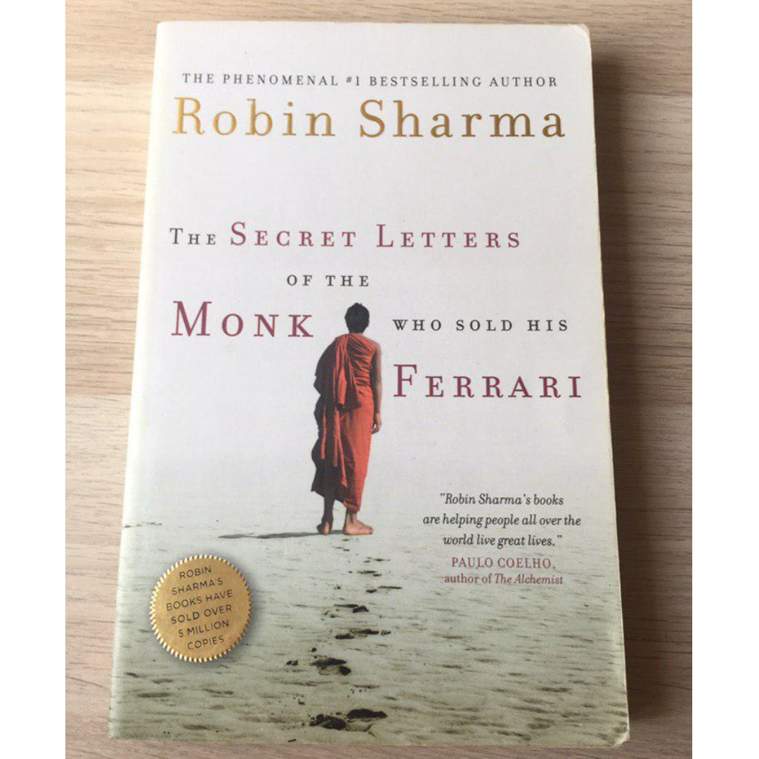 The Secret Letters From The Monk Who Sold His Ferrari By Robin Sharma Books Stationery Non Fiction On Carousell