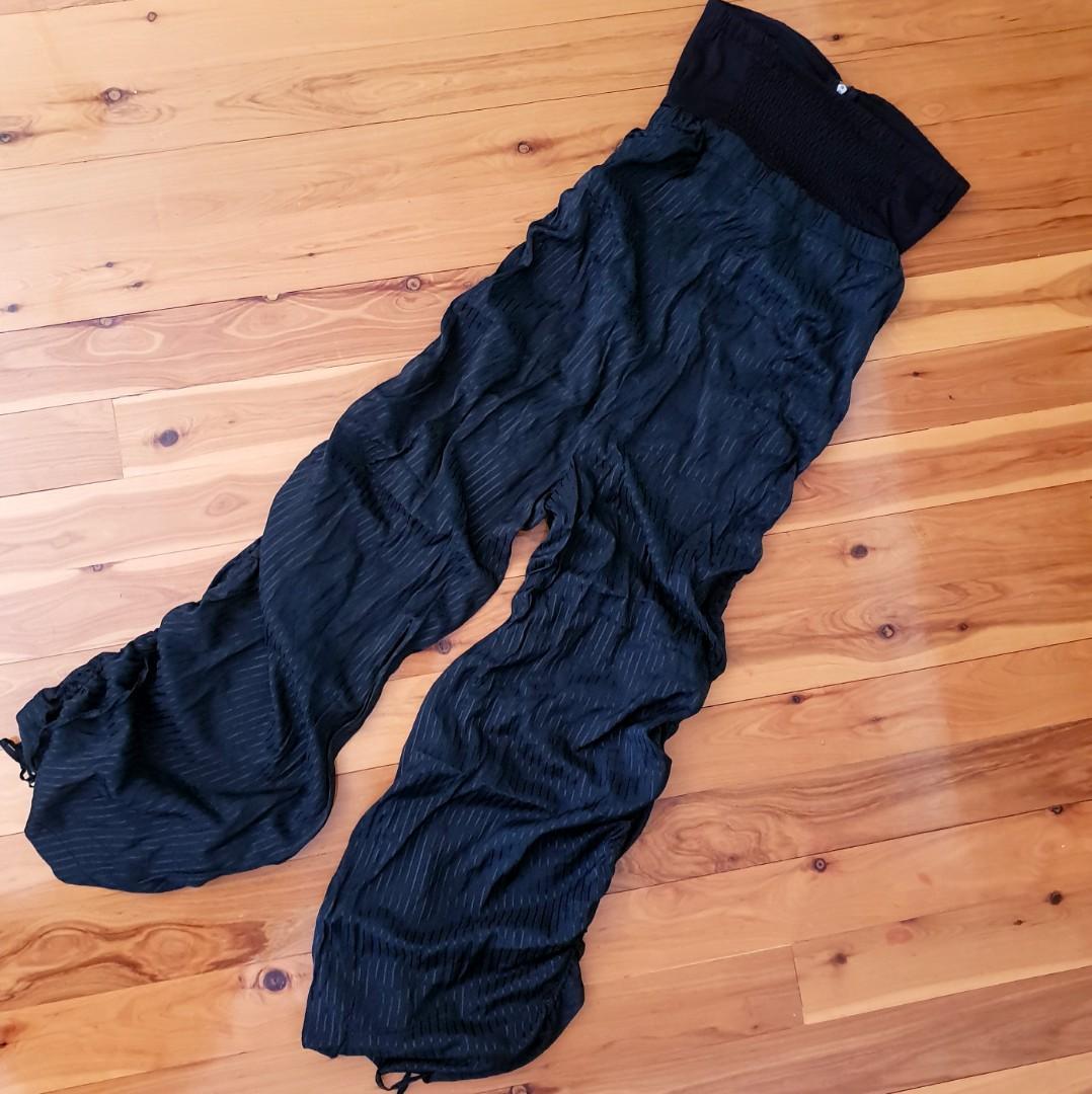 Women's size 10 'SWEETACACIA' Gorgeous black strapless gathered pant jumpsuit