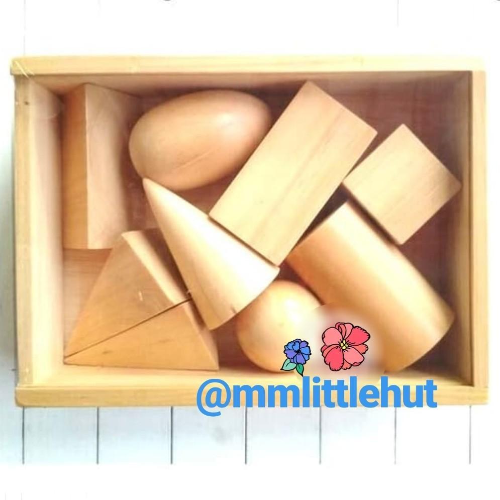 Wooden Geometric Solids 3D