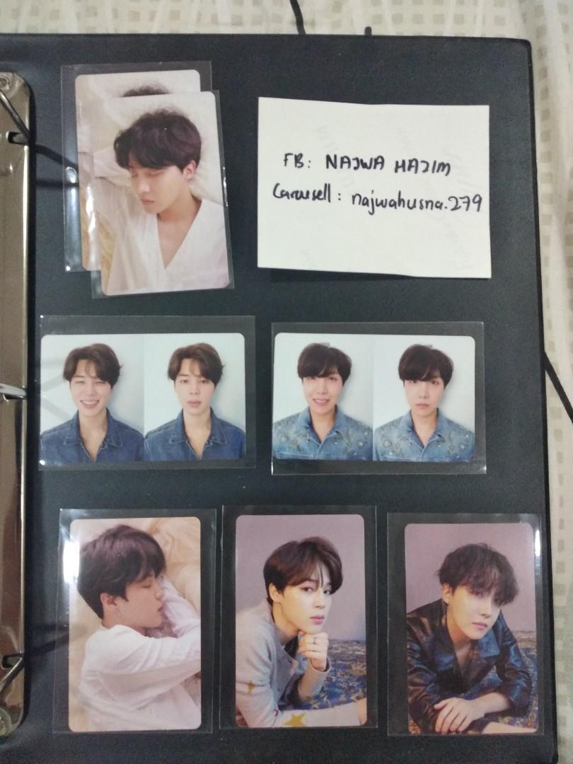 [CLEARANCE] BTS Jhope Jimin Love Yourself Tear Photocards