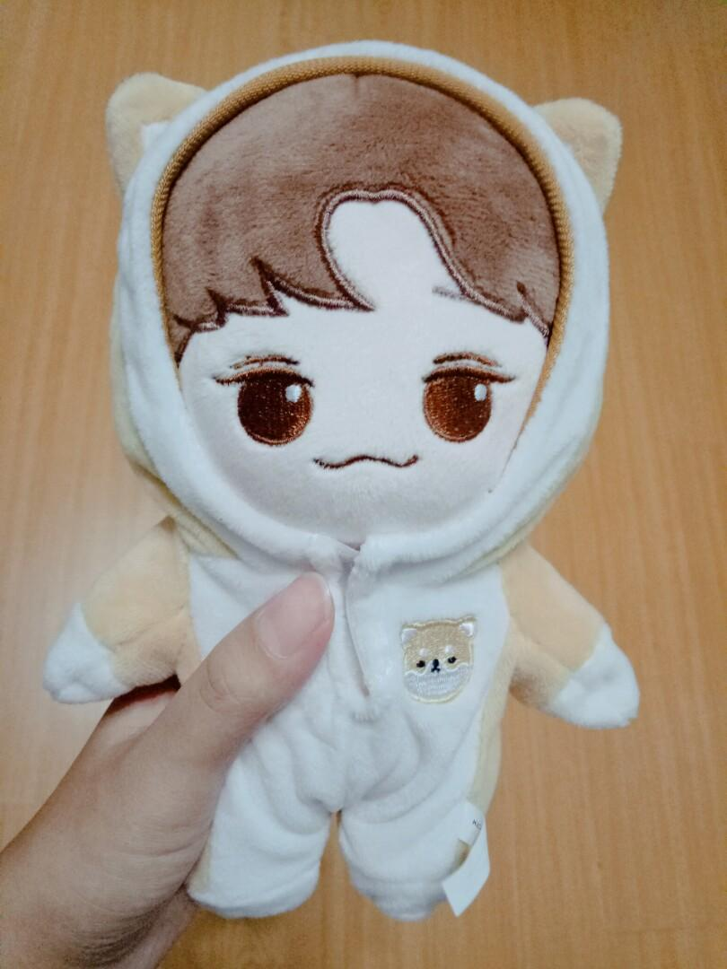 [WTS] (REDUCED) EXO CHEN JONGDAE 20CM DOLL WITH CORGI OVERALL OUTFIT