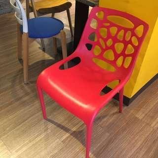 設計師款紅椅(九成新)