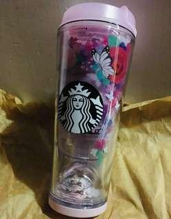 全新Starbucks 韓國版 櫻花系列環保杯 355ml 12oz 杯底是櫻花水晶球