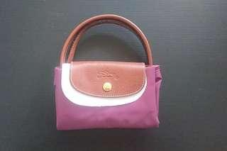 🚚 Longchamp 折疊小型水餃包(紫色)