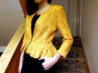 aalis's wool jacket in mustard