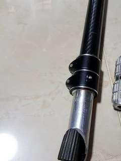 3K Glossy carbon fibre stem pole dual layer with aluminum alloy stem mount (Fiido/AM/DYU/Tempo/Venom)