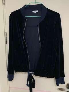 全新 深藍色絨布外套 New Navy Bomber Jacket