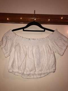 Glassons white off shoulder top