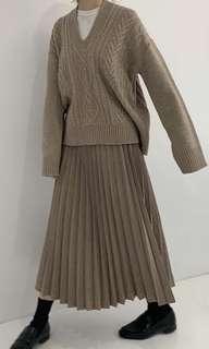 Room4 羊毛百褶裙
