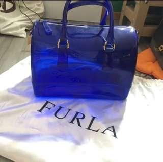 Furla 糖果色 透明 speedy 袋