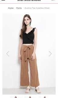 Brown culottes with split