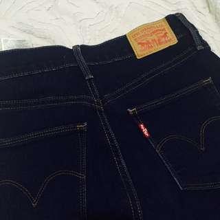 LEVI'S Slimming Super Skinny Denim Navy Mid-Rise Jeans #makespaceforlove