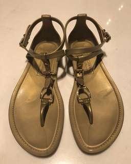 Ralph Lauren Gold Jelly Sandals