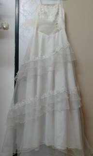[free post sm] Dinner Long Dress Cream Colour