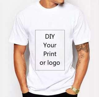 🚚 Customized Print T Shirt for Men DIY Your like Photo or Logo