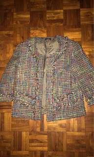 Multicolored tweed jacket