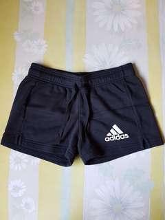 Adidas Running Cotton Logo Straight Cut Sports Shorts
