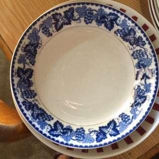 Royal blue floral bowl plate