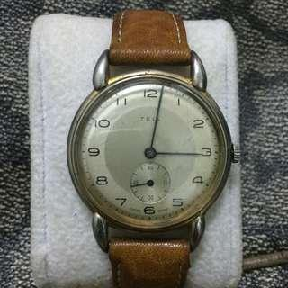 Vintage Tell subsecond Swiss made