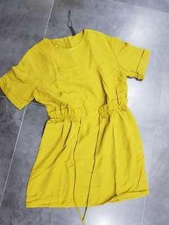 🚚 Zara lime green slip dress