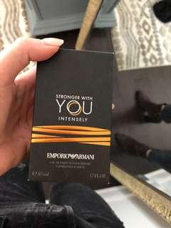 "men's fragrance ""stronger with you"" by armani"