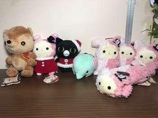 San-x Sentimental Circus Shappo Set Plush Toy / Soft Toy (Plush Toy Keychain / Sanx)