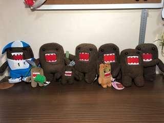 NHK Domokun Set Plush Toy / Soft Toy (Plush Toy Keychain / Domo Kun)