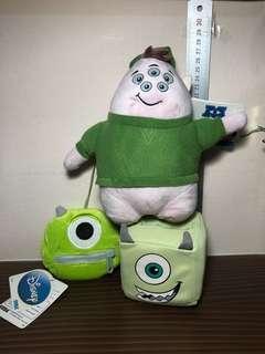 Disney / Disney Sega Monsters Inc / Monsters University Mike Plush Toy / Soft Toy (Plush Toy Keychain)