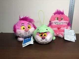 Disney / Disney Sega Cheshire Cat Set Plush Toy / Soft Toy (Plush Toy Keychain)