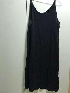 🚚 Black Spag Top MIDI  Dress
