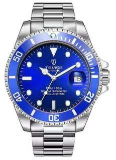 Tevise Mechanical Automatic Mens Watch ( Submariner homage )