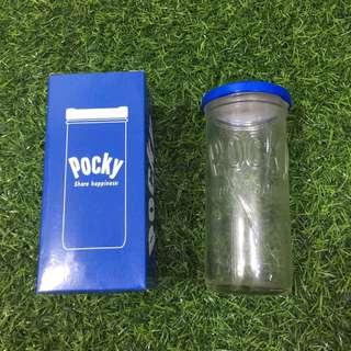 Pocky Blue Glass Container