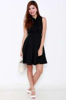 BN Nicole Collared Dress In Black FMTP - Fly Me To Paris