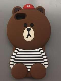 WTS: IPHONE7 LINE FRIEND BROWN PHONE CASE